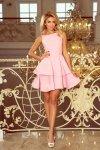 169-5 Sukienka CRISTINA rozkloszowana - PASTELOWY RÓŻ