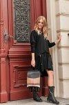 Asymetryczna sukienka czarna NU275