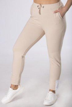 dresowe spodnie z wysokim stanem