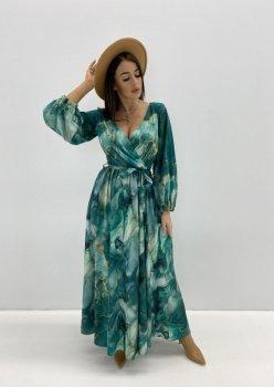 wzorzysta maxi sukienka