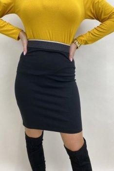 spódnica z brokatowym pasem