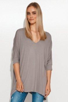Asymetryczna bluzka damska onesize stalowa M704