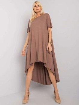 Sukienka-RV-SK-R4889.09-jasny brązowy