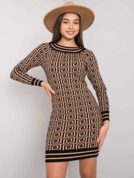 Sukienka-TW-SK-BI-ZS5218.50-camelowy