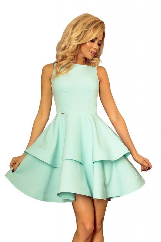 169-4 Sukienka CRISTINA rozkloszowana - MIĘTOWA