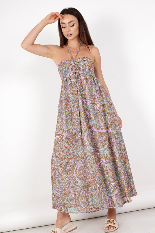 sukienka maxi na ramiączkach