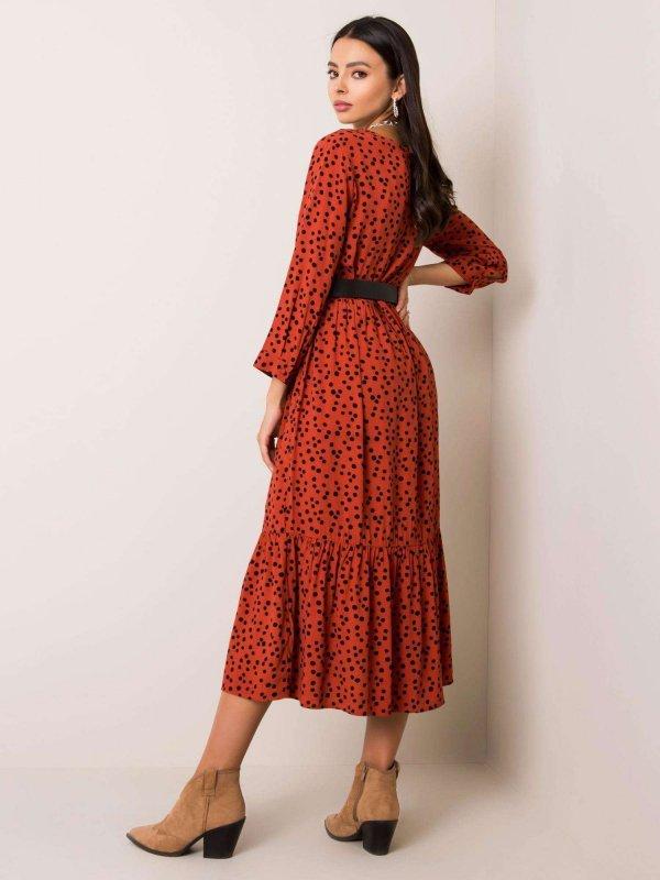 Sukienka-D70013Z30228-ciemny pomarańczowy