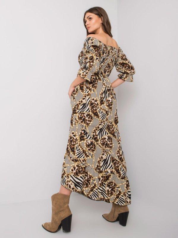 Sukienka-DHJ-SK-13965.71P-beżowy