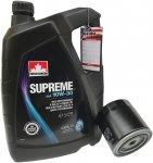 Filtr + olej SUPREME 10W30 Chrysler 300M