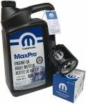 Olej MOPAR 5W20 oraz filtr oleju silnika Jeep Compass -2017