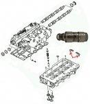 Popychacz hydrauliczny zaworów Jeep Liberty Cherokee 2,5 CRD 2,8CRD