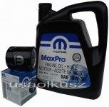 Oryginalny filtr oleju oraz olej MOPAR 10W30 Jeep Wrangler 2,4