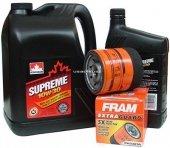 Filtr oleju oraz olej SUPREME 10W30 Chevrolet Venture 3,4 V6