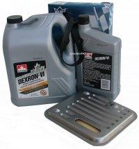Filtr oraz olej Dextron-VI automatycznej skrzyni biegów 4SPD Plymouth Voyager