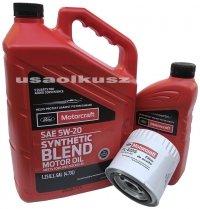 Oryginalny filtr oraz olej silnikowy Motorcraft 5W20 Mercury Mystique 2,5 V6