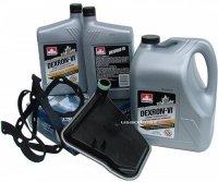 Filtr oraz olej Dextron-VI automatycznej skrzyni biegów AX4S Ford Windstar 2001-