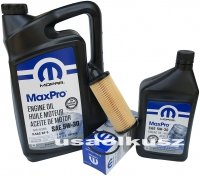 Olej MOPAR 5W30 oraz oryginalny filtr Chrysler 200 3,6 V6 2014-