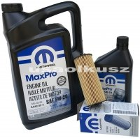 Olej MOPAR 5W20 oraz oryginalny filtr Chrysler 300C 3,6 V6 -2013
