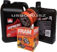 Filtr oraz mineralny olej 5W30 Chevrolet Blazer S10