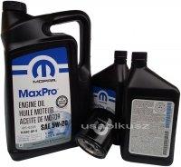 Olej MOPAR 5W20 oraz oryginalny filtr RAM 5,7 V8 2013-