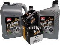 Filtr oraz syntetyczny olej 5W30 GMC Savana 2007-