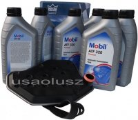 Filtr oraz olej skrzyni biegów Mobil ATF320 Lincoln Mark LT 5,4