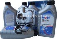 Filtr oraz olej Mobil ATF-320 automatycznej skrzyni biegów Nissan Quest