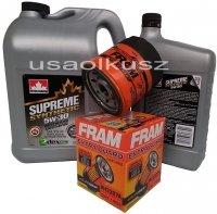 Filtr oraz syntetyczny olej 5W30 Chevrolet Venture