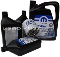 Oryginalny filtr oraz olej MOPAR 5W20 Dodge Charger 5,7 Hemi -2008