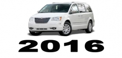 Specyfikacja Chrysler Voyager Town&Country 2016