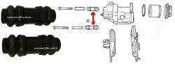 Osłonki prowadnic zacisku przedniego Plymouth Voyager