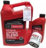 Filtr + olej Motorcraft 5W30 SYNTHETIC BLEND Lincoln MKT 2,0 EcoBoost