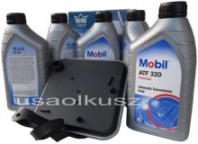 Filtr oraz olej Mobil ATF-320 skrzyni biegów Chrysler LHS