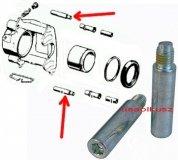 Zestaw prowadnic przedniego zacisku hamulcowego Chrysler Sebring 2001-2006