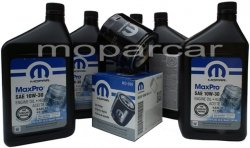 Filtr oraz olej MOPAR 10W30 Dodge Shadow