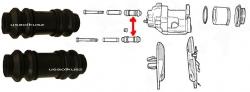 Osłonki prowadnic zacisku Chrysler 300M