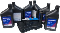 Filtr + olej ACDelco automatycznej skrzyni biegów Cadillac STS 4,4 V8 2007-2009
