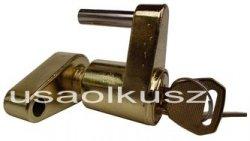 Przetyczka zabezpieczenia mocowania kuli haka holowniczego z kluczykiem