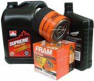 Filtr oleju FRAM PH16 oraz olej SUPREME 10W30 Dodge RAM -2003