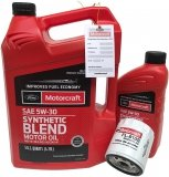 Filtr + olej Motorcraft 5W30 SYNTHETIC BLEND Ford Mustang 2,3 EcoBoost