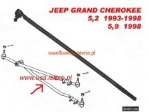 Drążek kierowniczy lewy wewnętrzny Jeep Grand Cherokee 5,2 5,9 V8