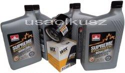 Filtr oleju oraz syntetyczny olej 10W30 Jeep Wrangler 2,4 16V