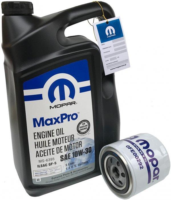 Filtr oleju + olej MOPAR 10W30 Chrysler Cirrus 2,5 V6