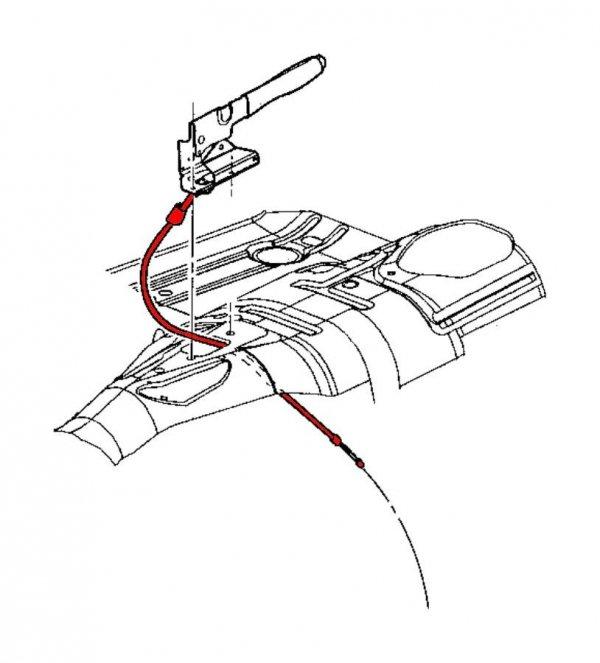 Przednia linka hamulca postojowego ręcznego Jeep Grand Cherokee 1999-2004