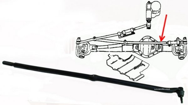 Drążek kierowniczy lewy wewnętrzny Dodge Ram 2500 / 3500 4X4 2003-2008