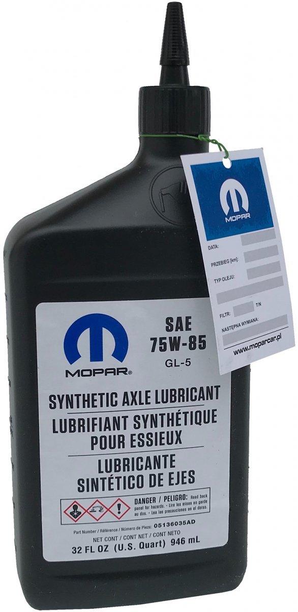 Syntetyczny olej do mostu 75W-85 GL-5 MOPAR