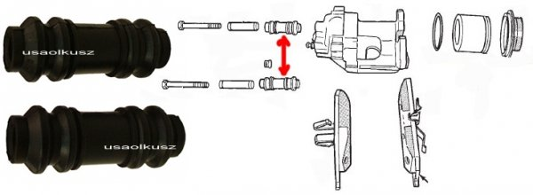 Osłonki prowadnic zacisku tylnego Chrysler Sebring Sedan / Convertible