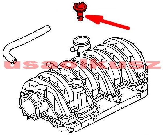 Zawór PCV Jeep Grand Cherokee 5,7 V8 2007-