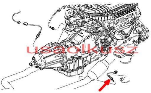 Sonda lambda tylna prawa MOPAR Chrysler 300C 2,7 V6 2008-2010