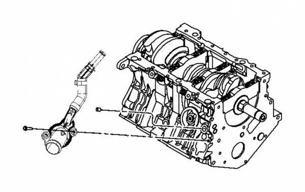 Króciec wlotowy bloku Chrysler Pacifica 4,0 V6